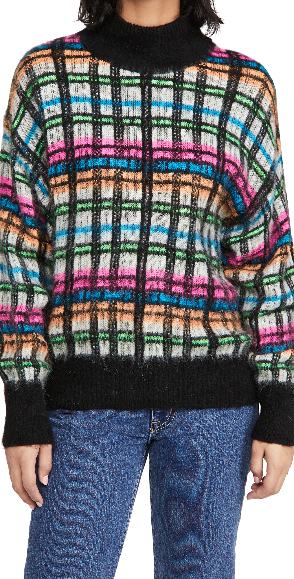Essentiel Antwerp Brushed Tartan Pullover