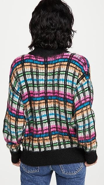 Essentiel Antwerp 起绒格子套头衫