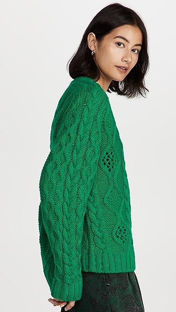 Essentiel Antwerp Agatti 绞花缝线毛衣