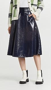 Essentiel Antwerp Arch Crackled Pleather Skirt