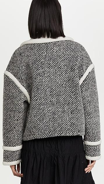 Essentiel Antwerp 变位词仿皮毛夹克
