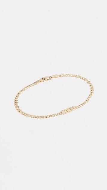 Established 14k Gold Wifey Bracelet