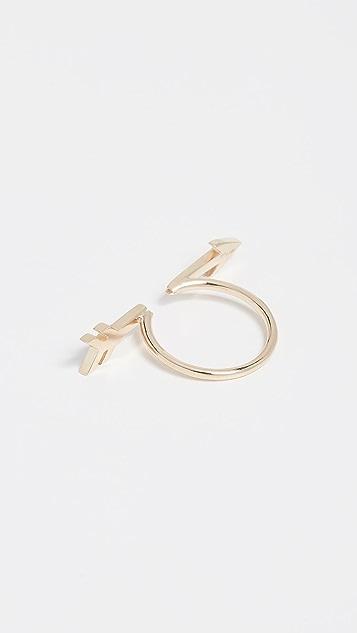 Established 14k Gold Broken Arrow Ring