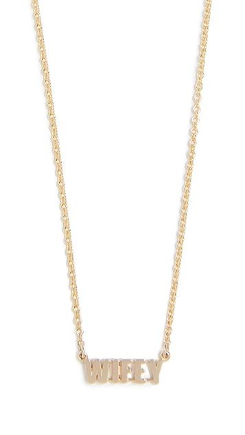 Established 14k Gold Wifey Word Necklace