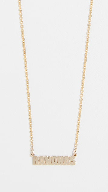 Established 14k Gold Bananas Necklace