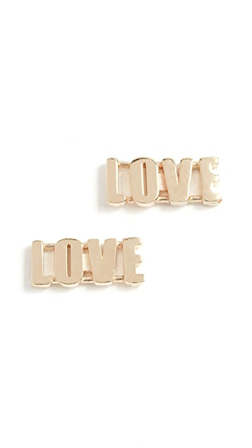 Established 14k Gold Love Earrings