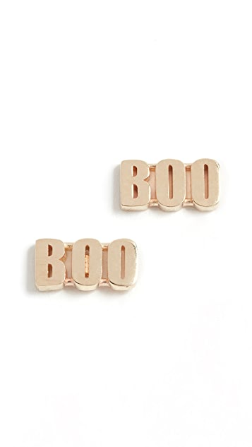 Established 14k Gold Boo Stud Earrings