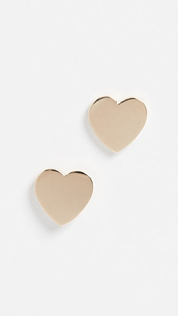 Established 14k Heart Stud Earrings