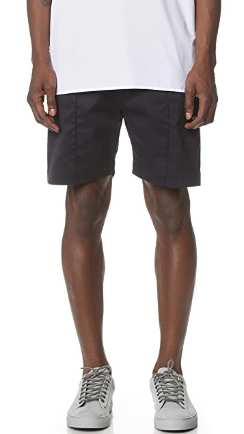 E. Tautz Pintuck Shorts