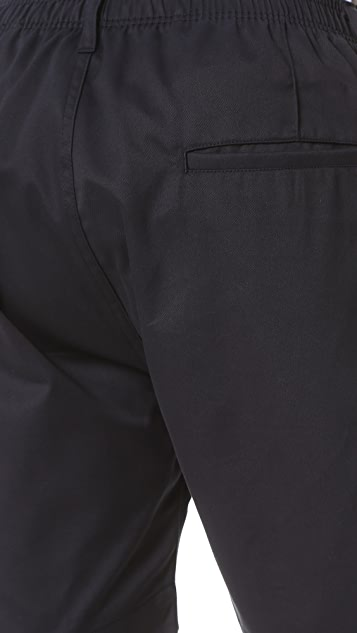 E. Tautz Pintuck Shorts