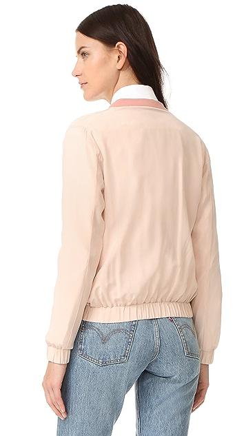 Emerson Thorpe Elma Silk Bomber Jacket