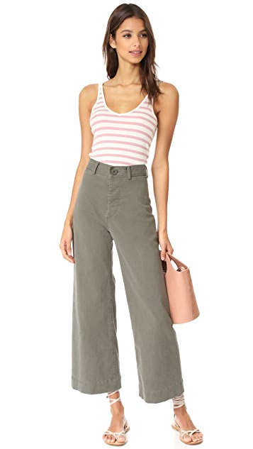 Emerson Thorpe Ryan High Waisted Wide Leg Pants