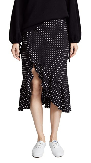 Emerson Thorpe Tess Silk Flounce Skirt