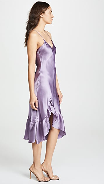 Emerson Thorpe Macy Silk Flounce Dress