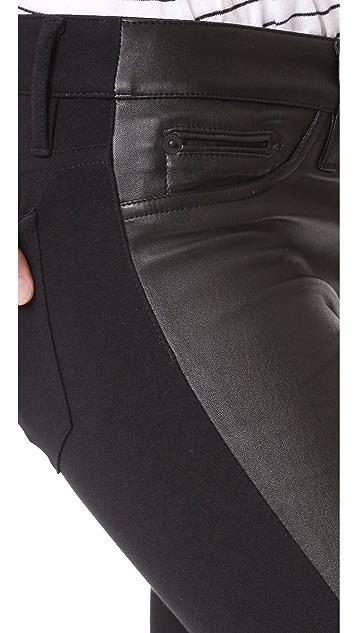 Etienne Marcel Leather Front Pants