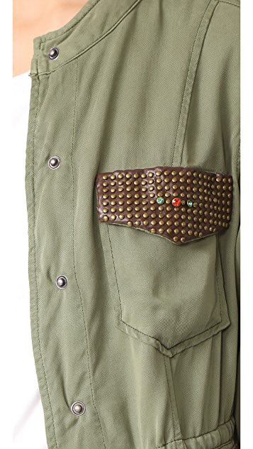 Etienne Marcel Vanessa Studded Cargo Jacket