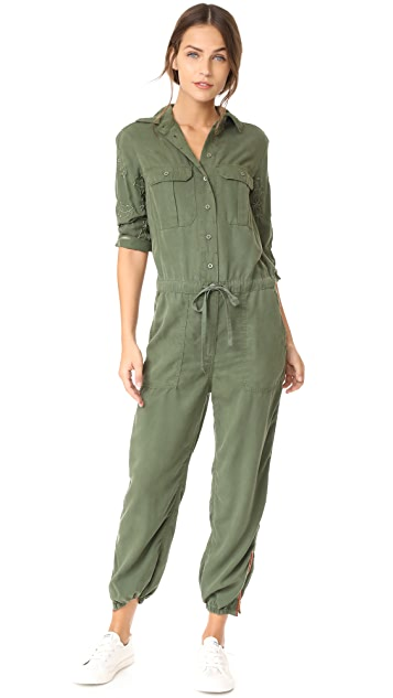 Etienne Marcel Marjan Army Embroidered Jumpsuit