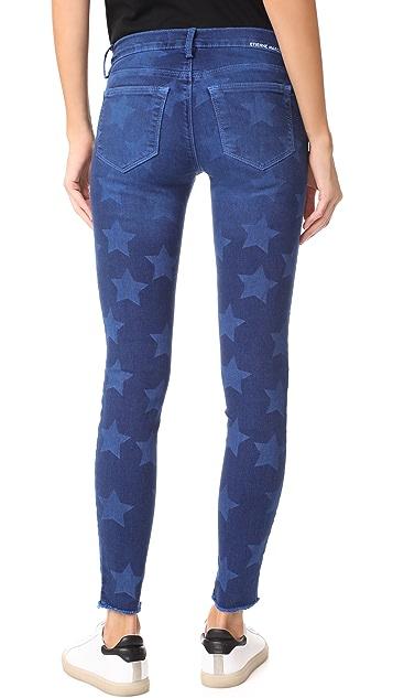 Etienne Marcel Roos Star Print Skinny Jeans