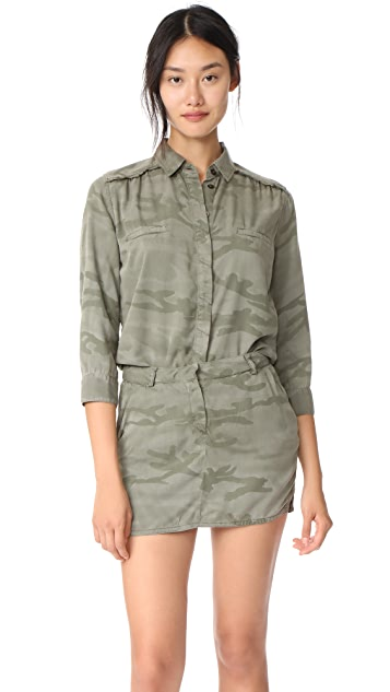 Etienne Marcel Jackie Camo Jumpsuit Dress - Camo