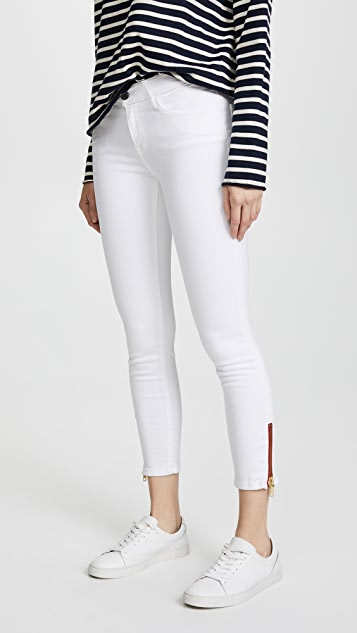 Etienne Marcel Skinny Jeans with Zip - White