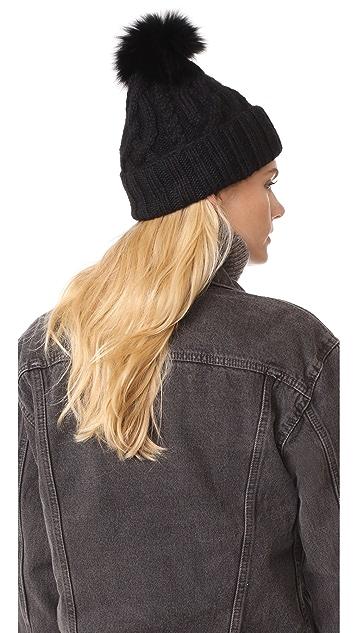 Eugenia Kim Andrea Fur Pom Pom Hat