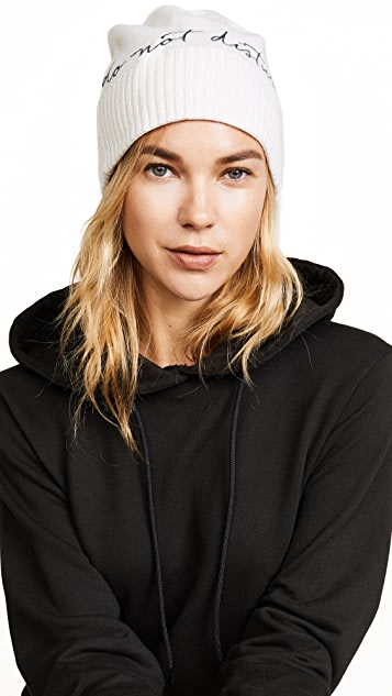 Eugenia Kim Poe Do Not Disturb Cashmere Beanie