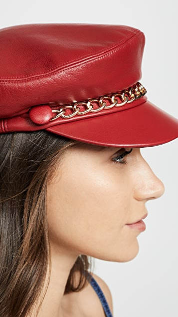 Eugenia Kim Marina Leather Hat