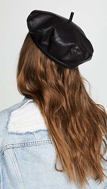 Eugenia Kim Carter Leather Beret