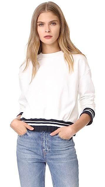 EVIDNT Ruffle Trim Sweatshirt