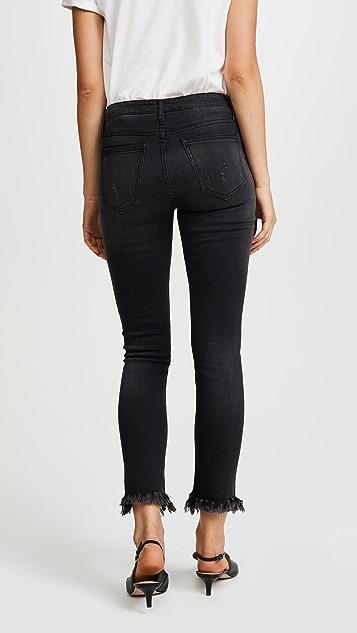 EVIDNT Raw Hem Skinny Jeans