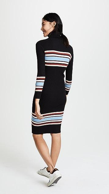 EVIDNT Ribbed High Neck Dress