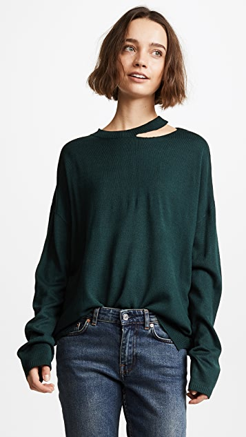 EVIDNT Cutout Detailed Sweater