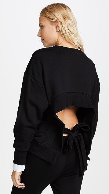 EVIDNT Back Tie Sweatshirt - Black