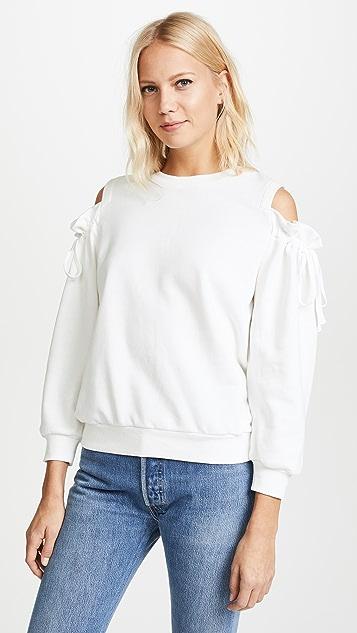 EVIDNT Cold Shoulder Sweatshirt