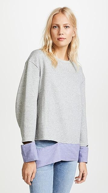EVIDNT Disconnected Hem Sweatshirt