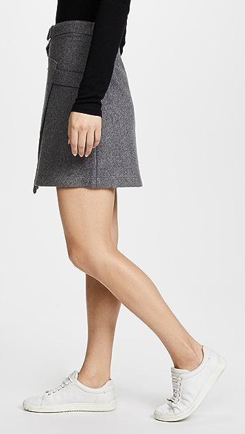 EVIDNT Over Wrap Belt Skirt