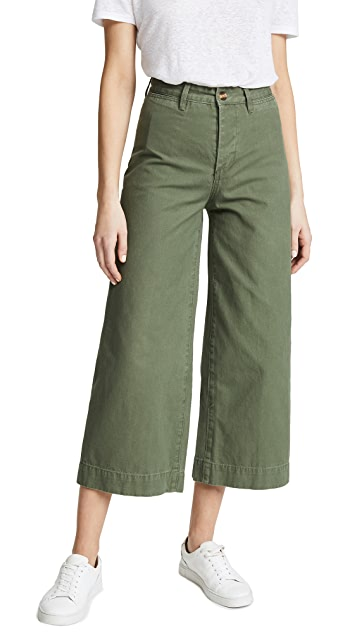 EVIDNT Wide Leg Cropped Pants
