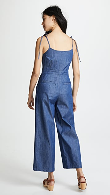 EVIDNT Tie Shoulder Jumpsuit