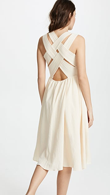 EVIDNT Crisscross Back Dress