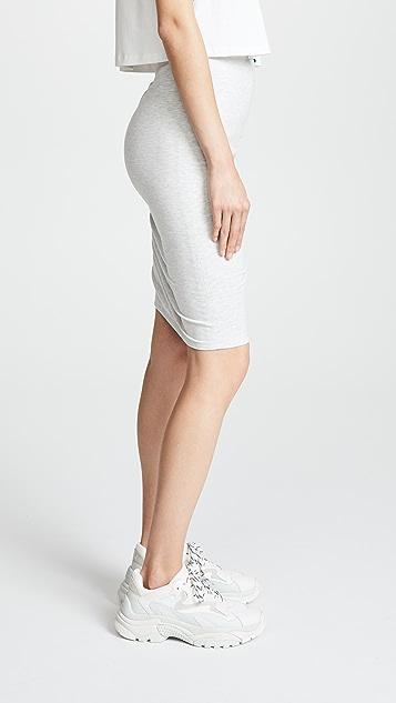 EVIDNT Shirred Skirt