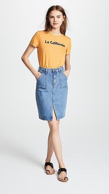 EVIDNT Denim Pencil Skirt