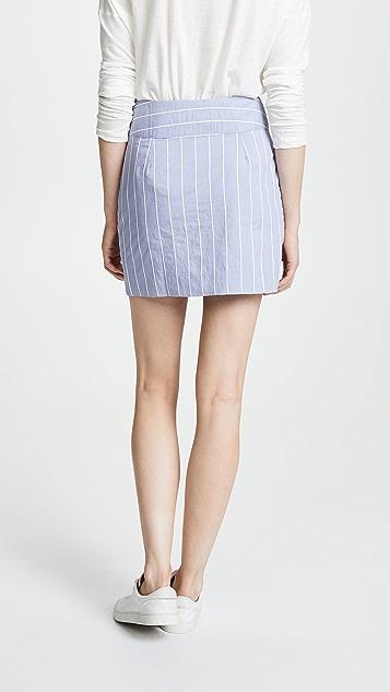 EVIDNT Asymmetrical Miniskirt