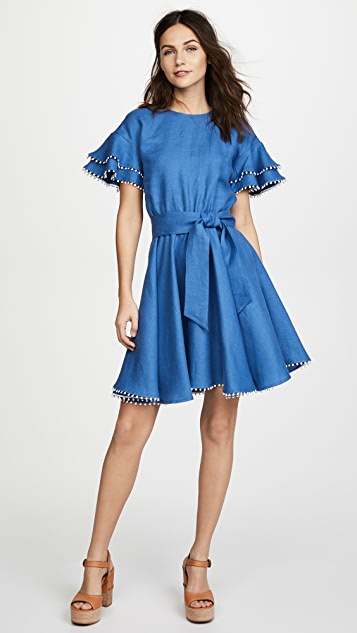 Ewa Herzog Tie Waist Dress - Blue