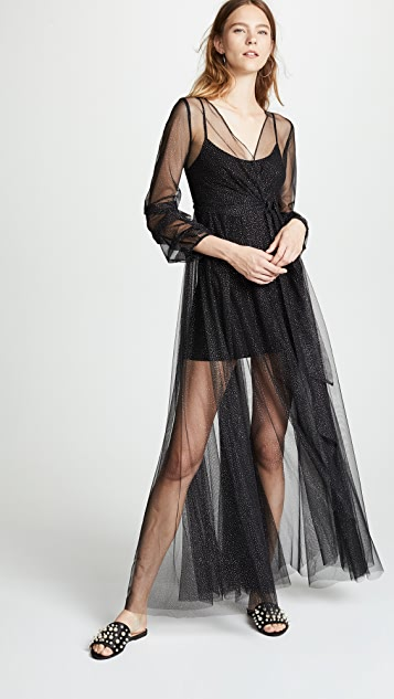 Ewa Herzog V Neck Mesh Dress