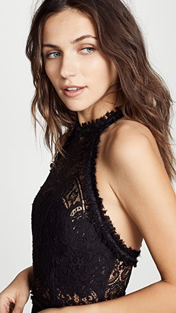 Ewa Herzog High Neck Lace Mini Dress