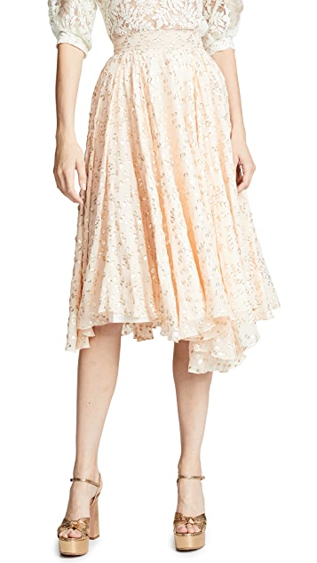 Ewa Herzog Gold Dot Midi Skirt