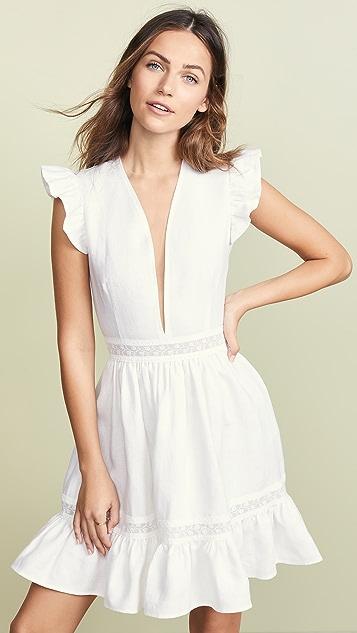 Ewa Herzog Deep V Linen Dress