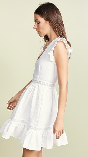 Ewa Herzog Льняное платье с глубоким V-образным вырезом