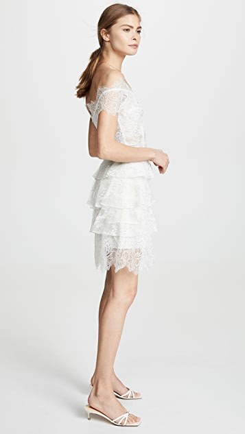 Ewa Herzog Embroidered Lace Dress