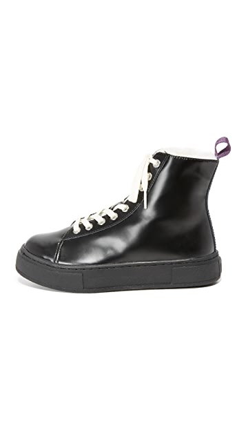 Eytys Kibo Leather Arctic High Top Sneakers